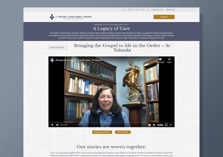 A Legacy of care inner page design