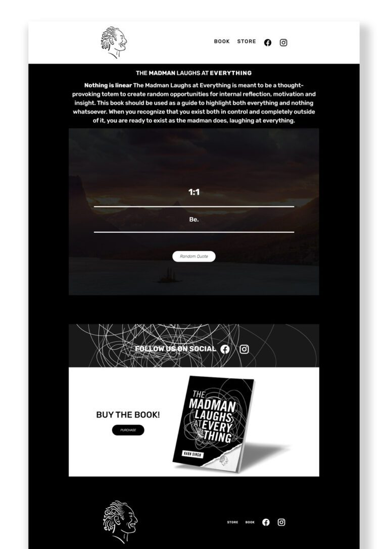 The Madman Laughs homepage design
