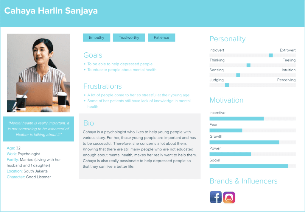 An example of a user persona
